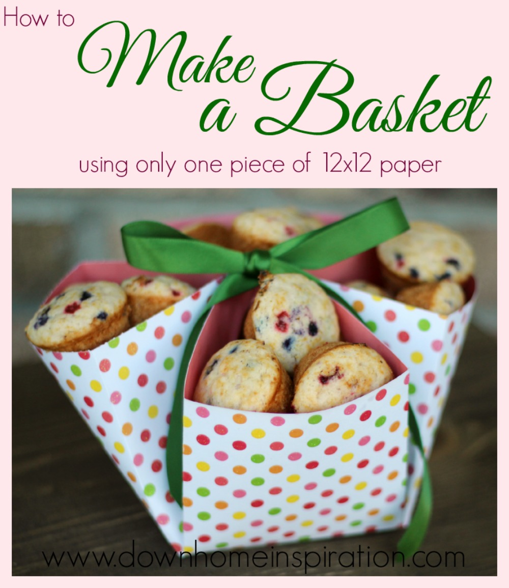 Make a basket with only one piece of 12x12 paper down for Christmas cookies to make for gifts