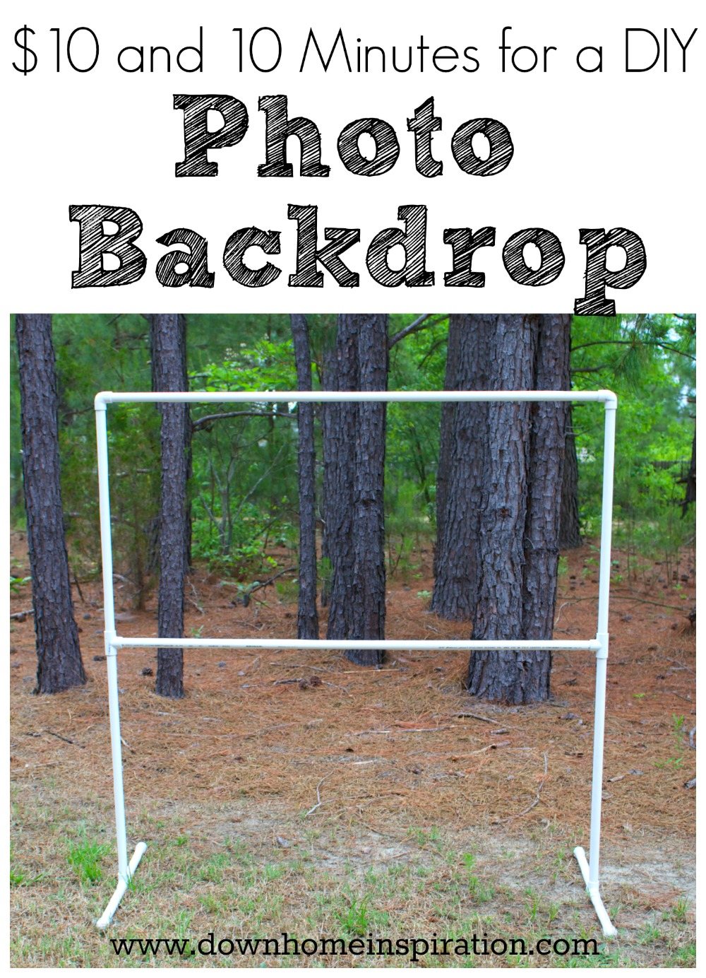 $10 and 10 Minutes for a DIY Photo Backdrop - Down Home ...