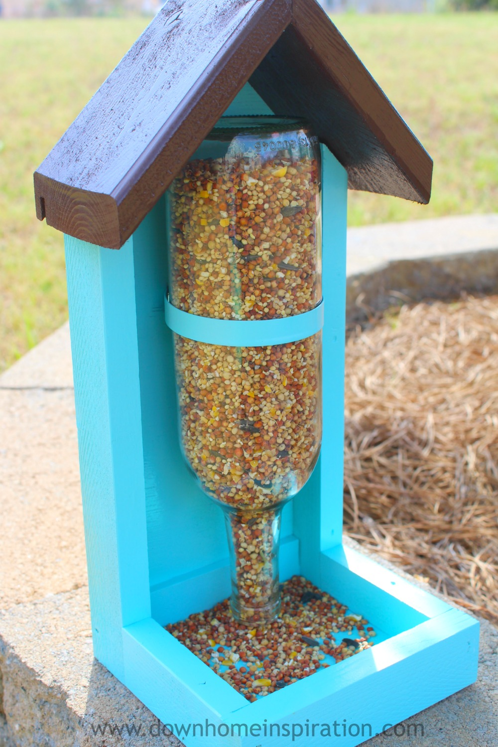 How To Make A Wine Bottle Bird Feeder Down Home Inspiration