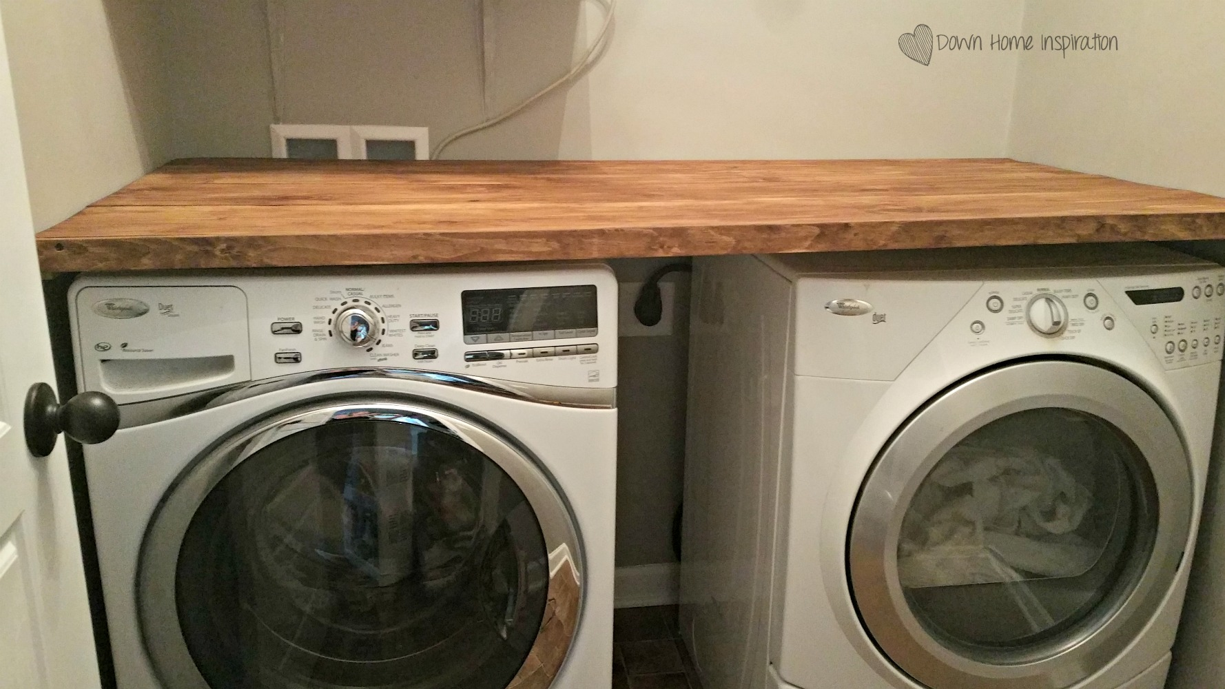Countertop Options For Laundry Room : DIY Laundry Room Countertop for Under $40 - Down Home Inspiration