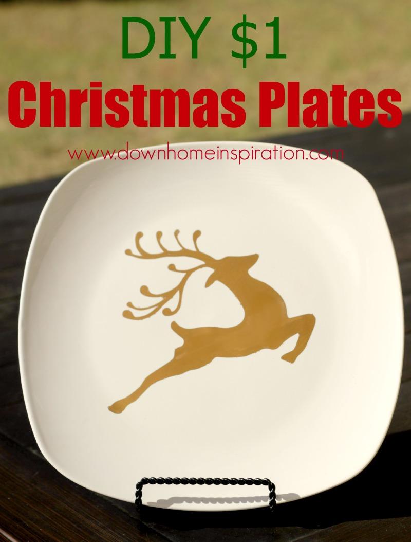 Diy 1 christmas plates down home inspiration for Home inspiration