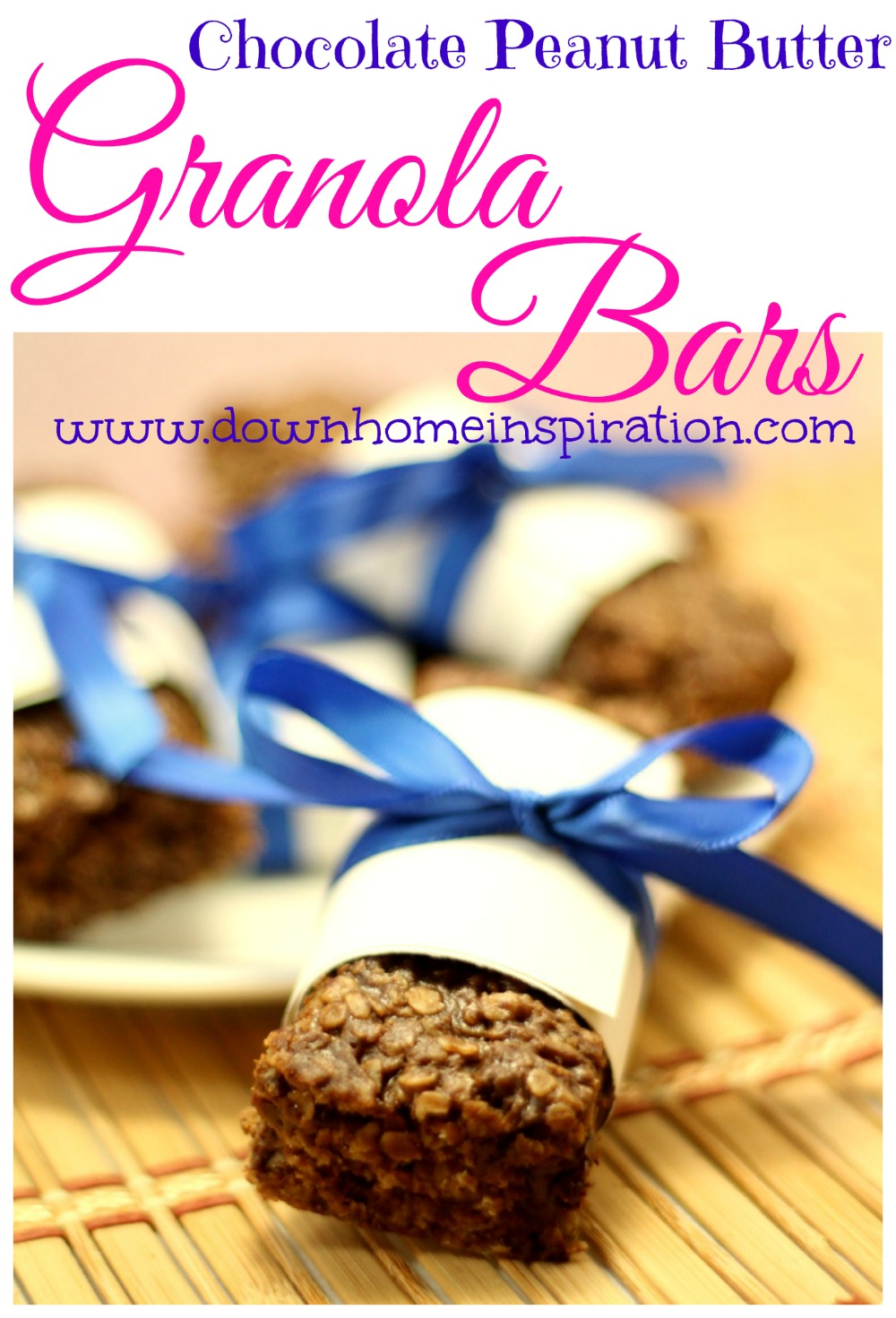 Chocolate Peanut Butter Granola Bars - Down Home Inspiration