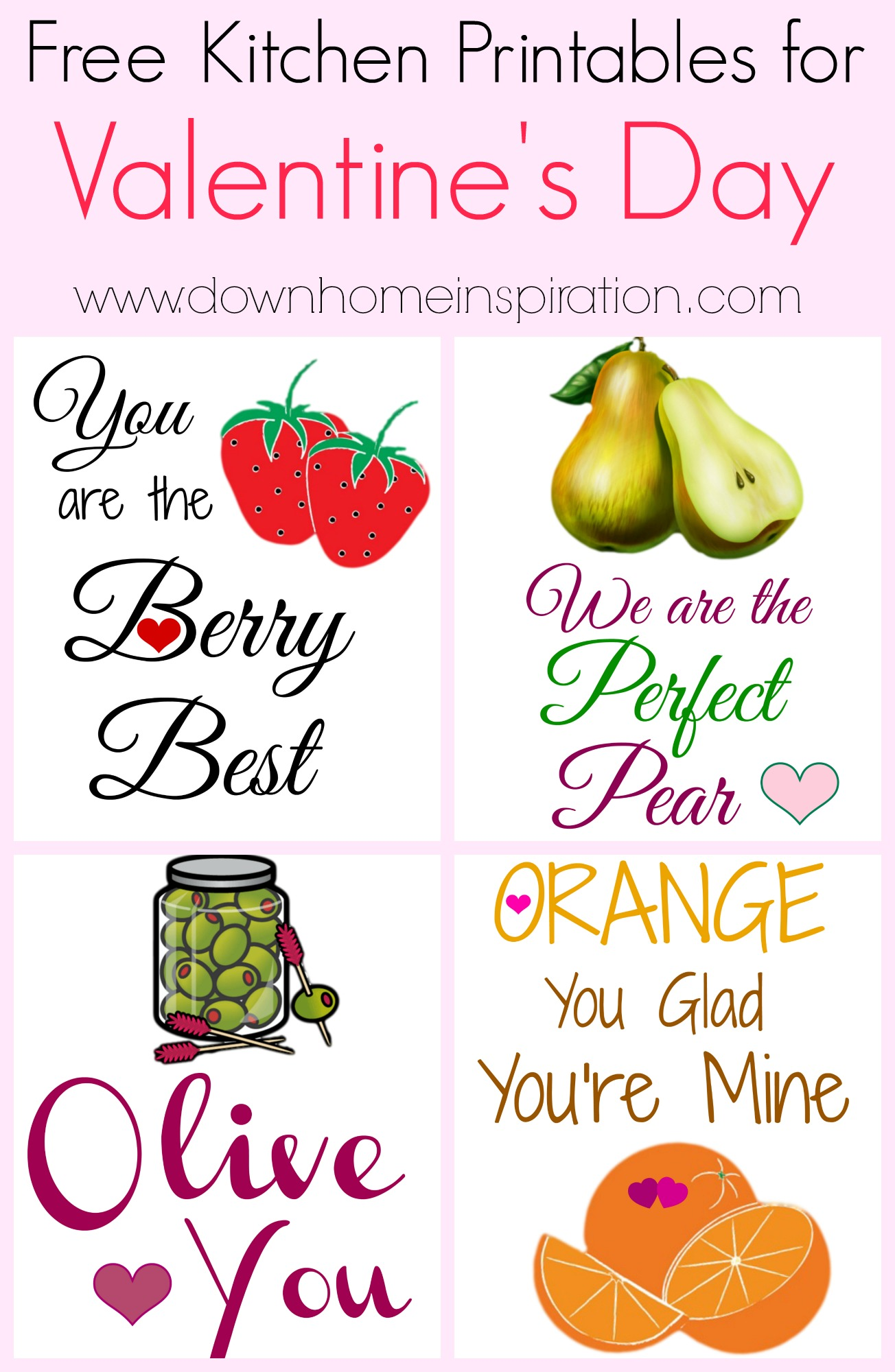 Free Kitchen Printables For Valentine S Day Down Home Inspiration