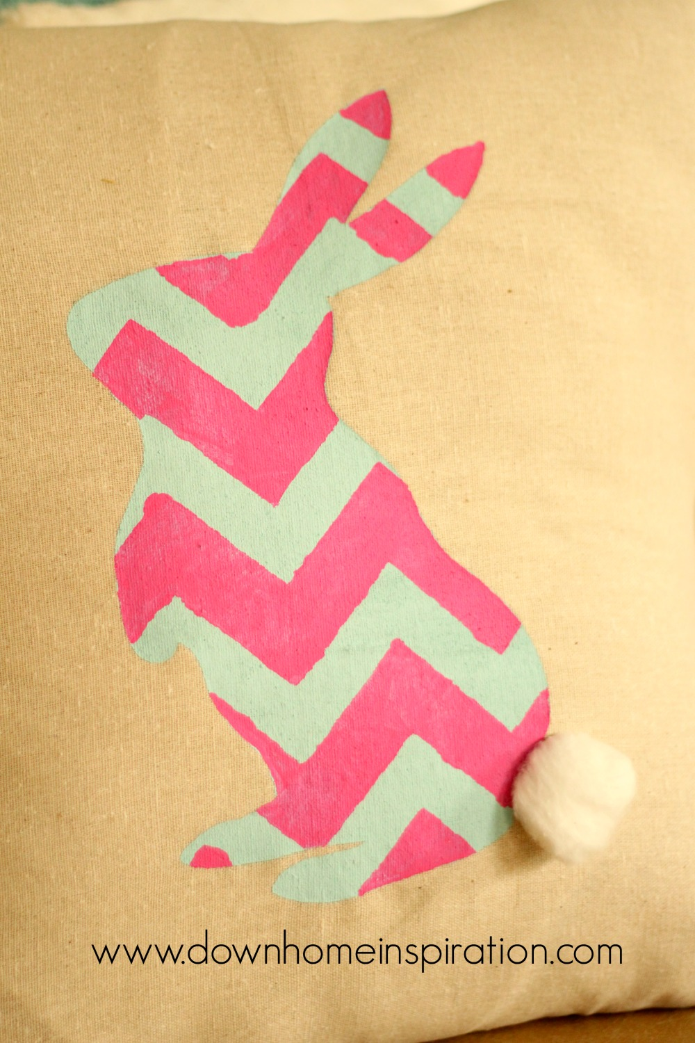 Burlap Bunny PIllow from Down Home Inspiration