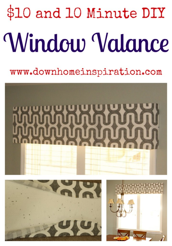 10 and 10 minute diy window valance down home inspiration for Home inspiration