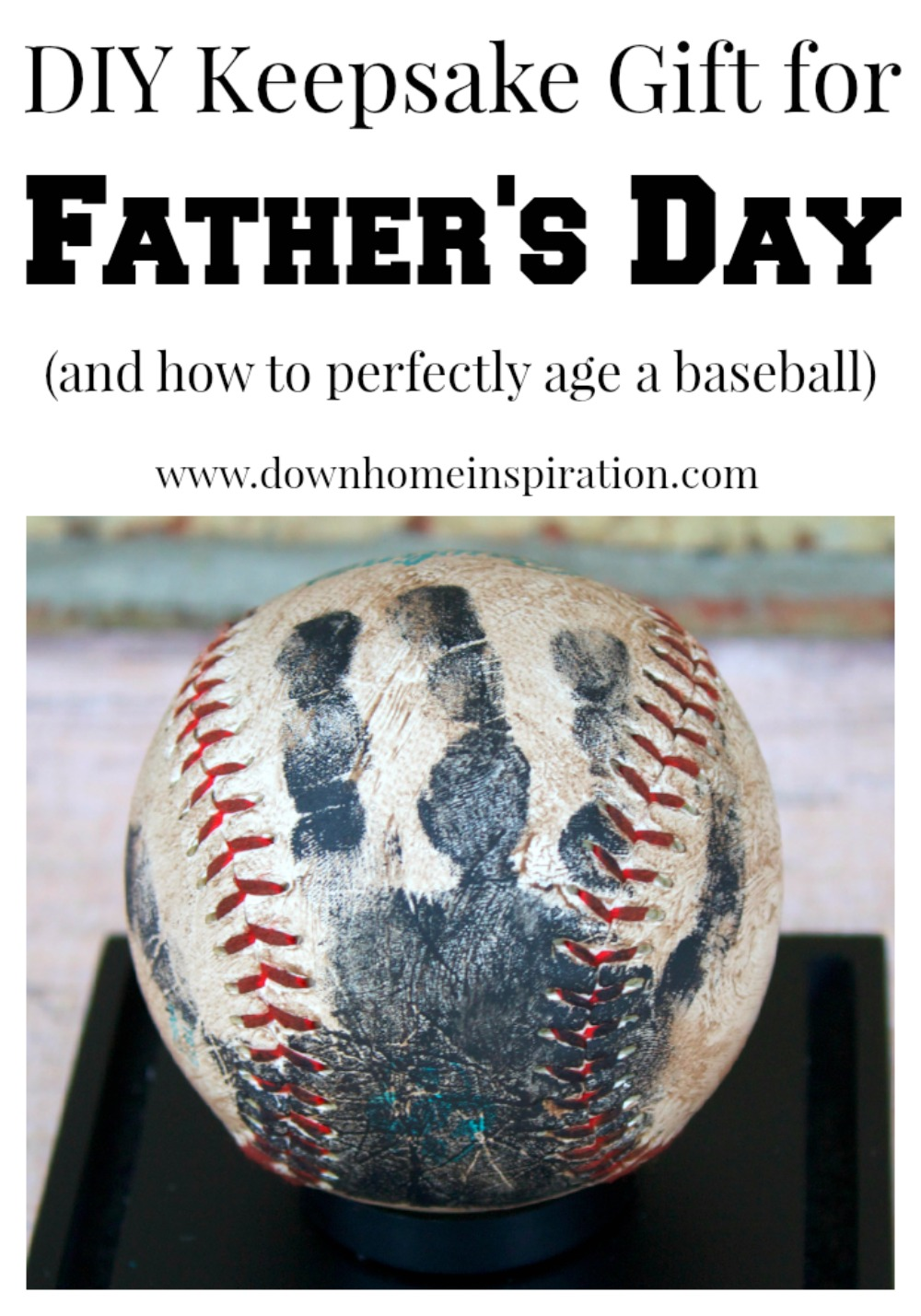 Handprint Baseball Keepsake Perfect For Father S Day