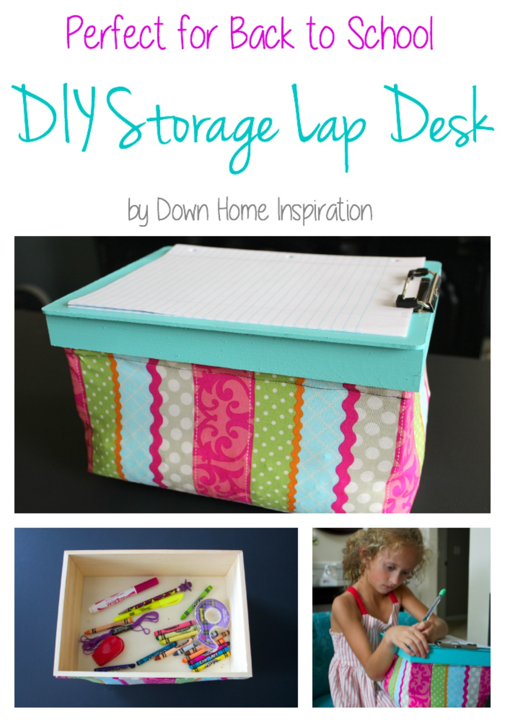 Diy Lap Desk With Hidden Storage Down Home Inspiration