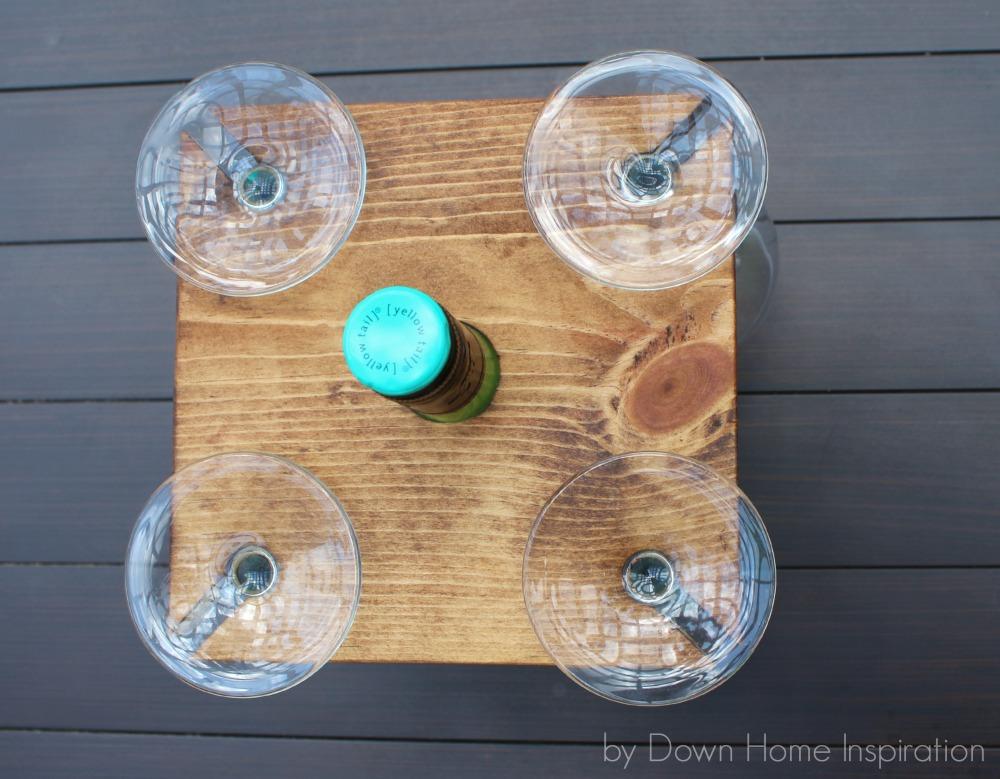 Wine bottle holder 2 for Wine bottle glasses diy