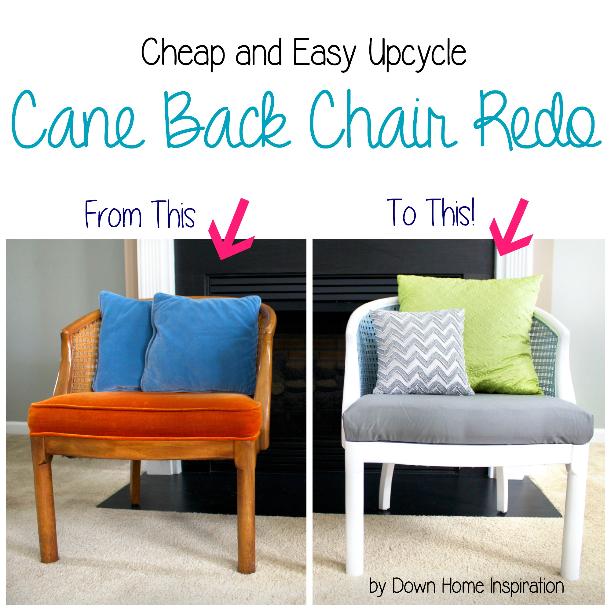Cane Back Chair Redo Down Home Inspiration