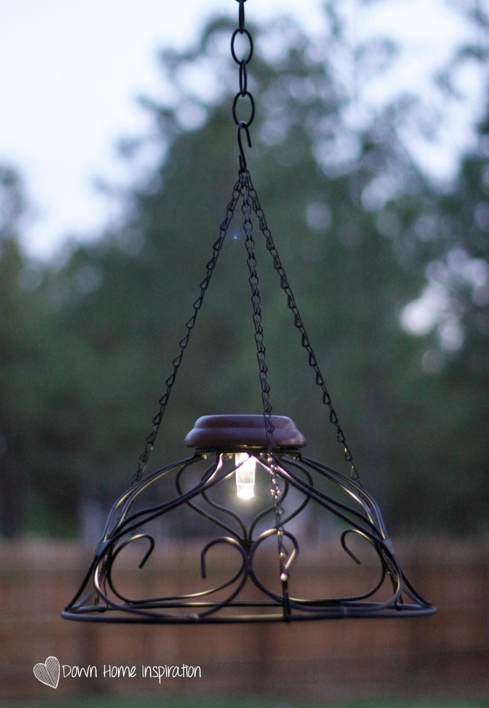 Solar chandelier 3 down home inspiration for Solar light chandelier diy