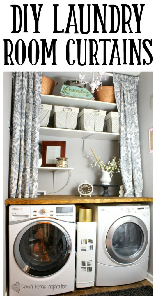 Diy Laundry Room Curtains Down Home Inspiration