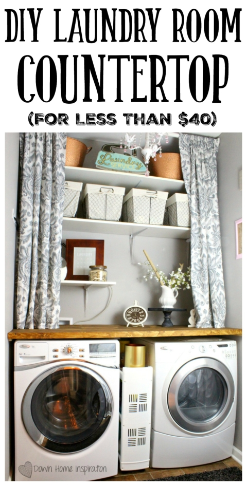 Diy Laundry Room Countertop For Under 40 Down Home Inspiration